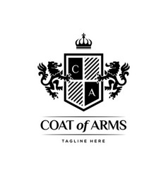 coat arms heraldic luxury logo design concept vector image