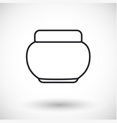 cosmetics product thin line web icon vector image
