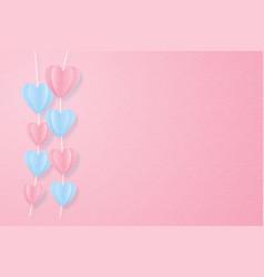 Creative love invitation card valentines day vector