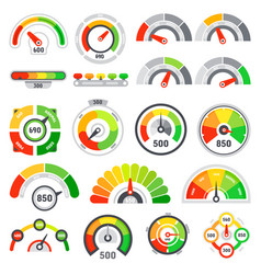 credit score speedometer goods rating indication vector image