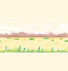 desert way background flat landscape vector image