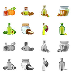 design of healthy and vegetable symbol vector image