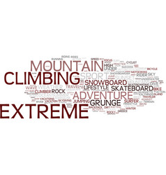 Extreme word cloud concept vector