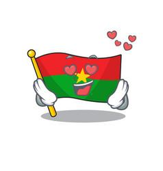 falling in love happy cute flag burkina faso vector image