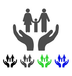 family care hands icon vector image