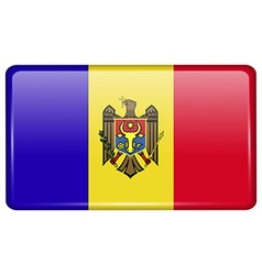 Flags Moldova in the form of a magnet on vector