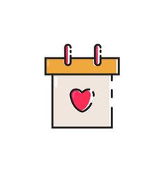 Flat color calendar icon vector