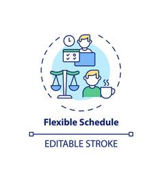Flexible schedule concept icon vector
