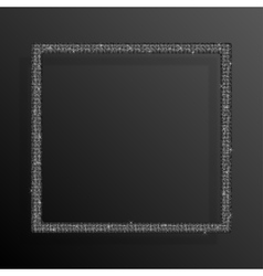 Frame Silver Sequins Square Glitter sparkle vector