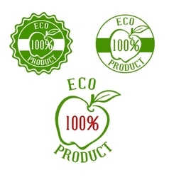 Fresh product labels with fruit vector