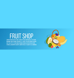 fruit shop concept banner isometric style vector image