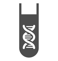 Genetic Analysis Test-Tube Flat Icon vector