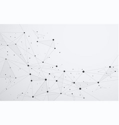 global network connections with points and lines vector image