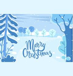 greeting holiday postcard merry christmas vector image