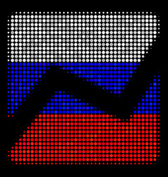 halftone russian analytics chart icon vector image
