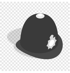 Hat english police isometric icon vector