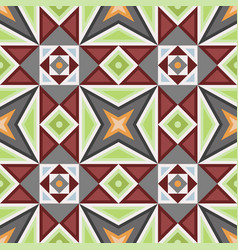 hydraulic vintage cement tiles vector image
