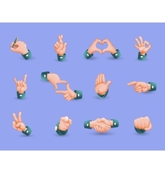Icon Set Of Hand Gestures vector