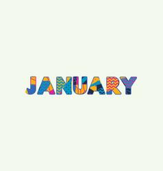 January concept word art vector