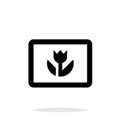 Macro photo icon on white background vector image