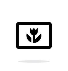 Macro photo icon on white background vector