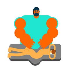 masseur specialist for massage massage table vector image