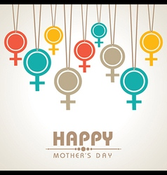 Mothers day greeting with female symbol stock vect vector