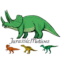 Motive of jurassic era vector