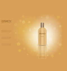 nature hair shampoo ads template golden glass bot vector image