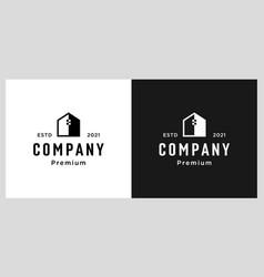 negative space home logo design template vector image