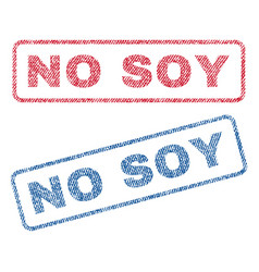 No soy textile stamps vector
