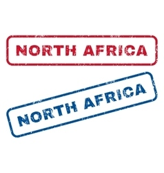 North Africa Rubber Stamps vector image