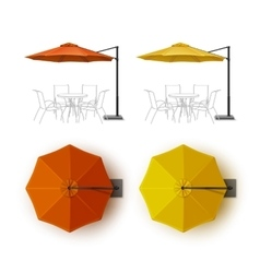 Orange Yellow Outdoor Cafe Lounge Umbrella Parasol vector
