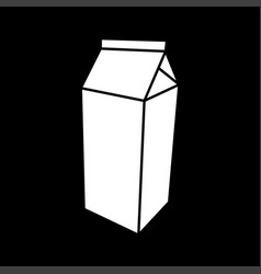 package for milk white color icon vector image