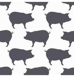 Pig silhouette seamless pattern Pork meat vector