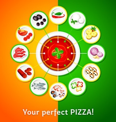 Pizza toppings vector