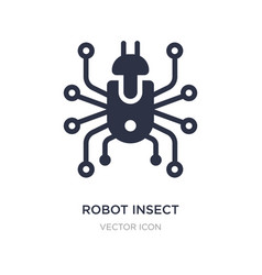 Robot insect icon on white background simple vector