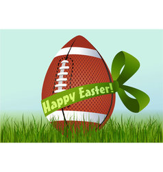 Rugby Easter egg vector image