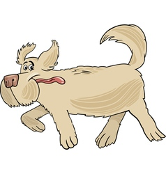 Running sheepdog dog cartoon vector image vector image