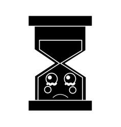 Sad hourglass kawaii icon image vector