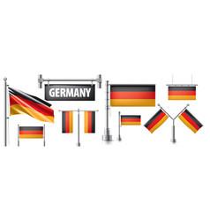 Set national flag germany vector