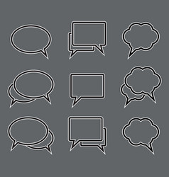 set of speech bubble linear icons vector image
