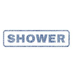 Shower textile stamp vector