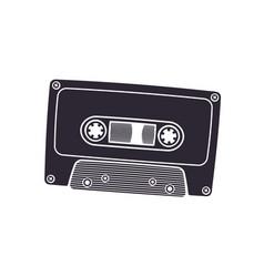 silhouette retro audio cassette vector image