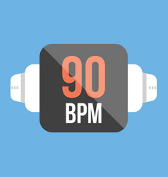 Smart watch icon flat style vector