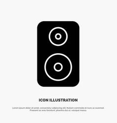 Speaker woofer laud solid glyph icon vector