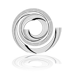 spiral design element vector image