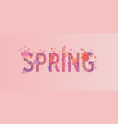 spring card papercut style vector image
