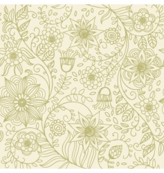 texture with flowers vector image