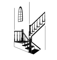 The staircase in the room vector